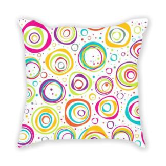 almofada decorativa com estampa de bolhas