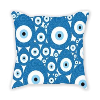 almofada decorativa com estampa olho grego