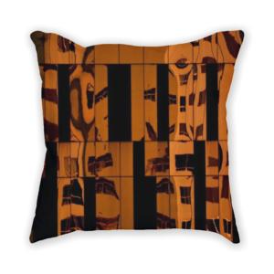almofada decorativa com estampa de reflexo