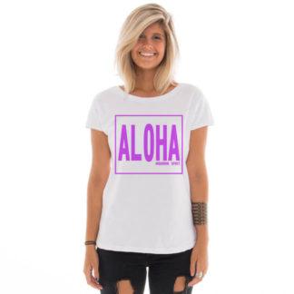 Camiseta feminina com estampa Aloha Spirit