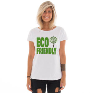 Camiseta feminina com estampa Eco Friendly model 2