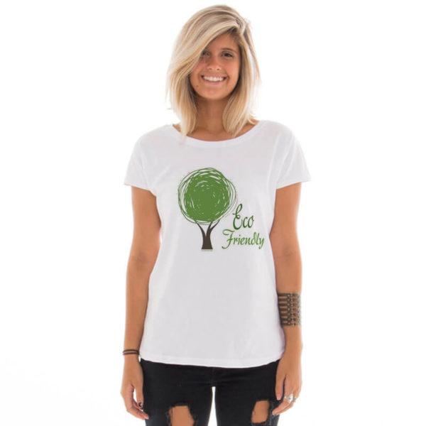 Camiseta feminina com estampa Eco Friendly model 5