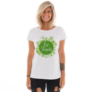 Camiseta feminina com estampa Eco Friendly model 6