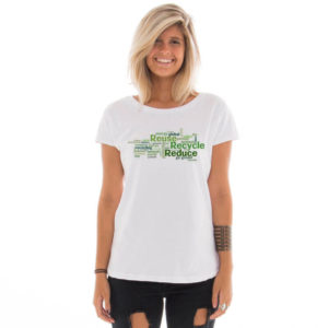 Camiseta feminina com estampa Eco Friendly model 7