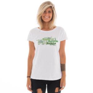 Camiseta feminina com estampa Eco Friendly model 7