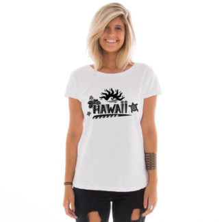 Camiseta feminina com estampa do Hawaii