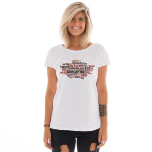 Camiseta feminina com estampa Kitesurfing