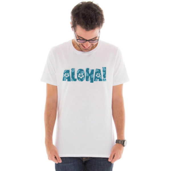Camiseta Masculina com estampa Aloha