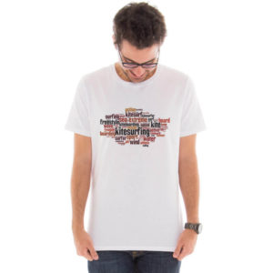 Camiseta masculina com estampa kitesurfing