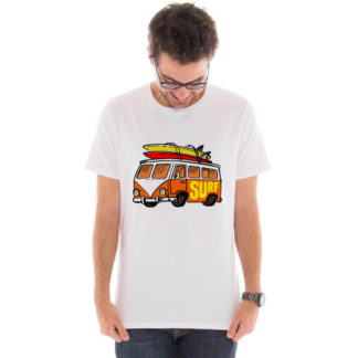 Camiseta masculina com estampa kombi do surf