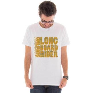 Camiseta masculina com estampa Longboard