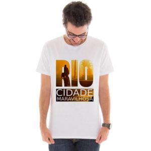 Camiseta masculina com estampa Rio de Janeiro
