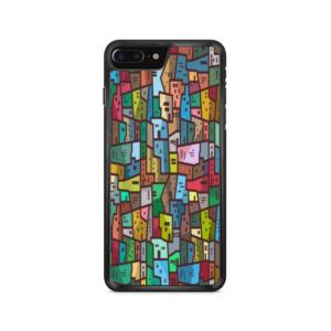 Capa de celular com estampa favela colorida