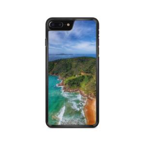 Capa de celular com estampa paisagem aérea