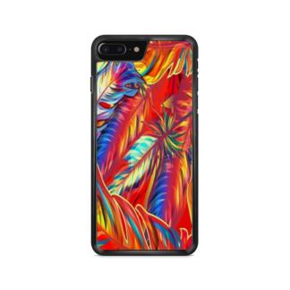 capa de celular com estampa vegetação colorida
