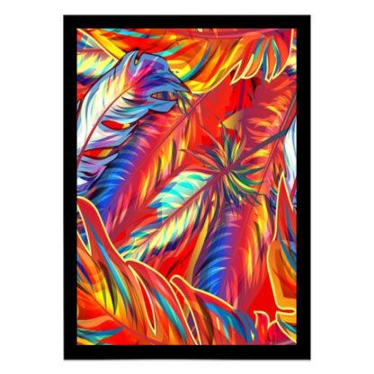 quadro decorativo vegetação colorida